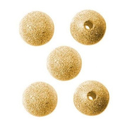 DUMAN 22K Gold Plated Stardust Sparkle Round Beads 10mm