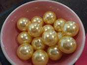 20mm Yellow Faux Pearl Beads-10pcs a bag.