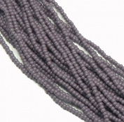 Light Purple Opaque Czech 8/0 Glass Seed Beads 1 Full 12 Strand Hank Preciosa Jablonex