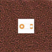 Special Dyed Reddish Brown Miyuki Japanese round rocailles glass seed beads 11/0 Approximately 24 gramme 13cm tube