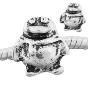 "Antique Silver ""Penguin"" Compatible with Pandora, Chamilia, Troll, Biagi and Other Italian Jewellery"