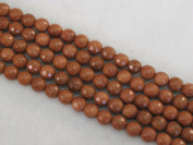 Sandstone Beads Gold Colour 8mm Faceted Round 49pcs 15.5''