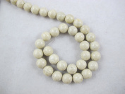 Fossil Beads Nature Fossil White Colour Round 10mm 41pcs 16''per Strand