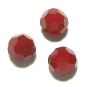 12 pcs. Crystal 5000 Round Faceted Bead Dark Red Coral 6mm / Findings / Crystallised Element