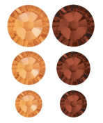 Create Your Style. Elements Flat Back Crystals, Topaz Value Pack