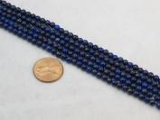 "3mm Lapis Lazuli Gemstone Round Beads Approx 40cm 15"" Loose Strand Semi Precious Stone"