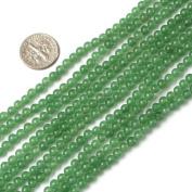 "4mm round gemstone light green jade beads strand 15"""