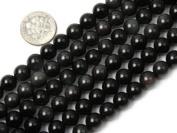 "6mm Round Black Obsidian Beads Strand 15"" Jewellery Making Beads"