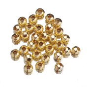 EOZY 50 Gramme Spacer Beads Findings Stardust Silver Plated Base Dia 10mm Round for Jewellery Making