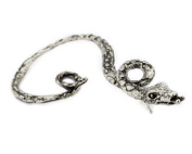 1pcs Stylish Punk Gothic Antique Silver Snake Ear Cuff Stud Earrings for Women