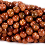 4mm Goldstone Plain Round Beads, 14 inch