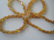 Amber(Synthetic) Oval Nugget Beads 16-20mm