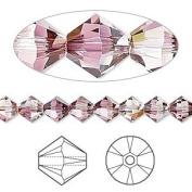 . Crystal 5328 6mm XILION Crystal Lilac Shadow Bicones - 24 Pack