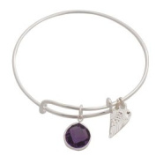 Beads and Dangles Expandable Bangle Bracelet Birthstone Charm June