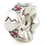 Sterling Silver Phases of Heart European Bead