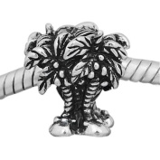 European Style Palm Trees Charm Bead. Compatible With Troll, Zable, Baigi, Chamilia, And Many More Charm Bracelets.