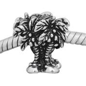 European Style Palm Trees Charm Bead. Compatible With Troll, Zable, Baigi, Chamilia, And Many More Charm Bracelets.