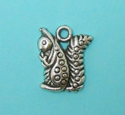 8 Squirrel Charms Antique Tibetan Silver Tone