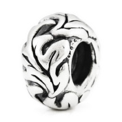 Sterling Silver Oak Leaf European Bead