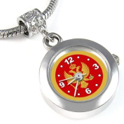 Montenegro Country Flag Bead Watch for Necklace or Bracelet