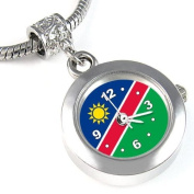 Namibia Country Flag Bead Watch for Necklace or Bracelet