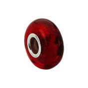 Kera Red Murano Glass Bead in Sterling Silver - Fits Most Pandora Bracelets