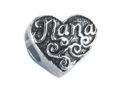 "Zable(tm) Sterling Silver ""Nana"" Pandora Compatible Bead / Charm"