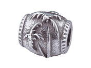 Zable(tm) Sterling Silver Palm Tree Bead / Charm