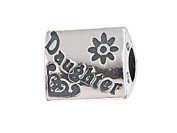 Zable(tm) Daughter Pandora Compatible Bead / Charm in 925 Sterling Silver
