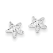 Gold and Watches Sterling Silver Starfish Mini Earrings with D/C Centre
