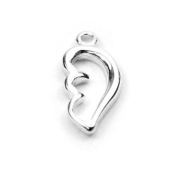 Stones and Findings Exclusive Sterling Silver Angel Wing Charm