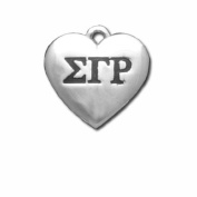 Sigma Gamma Rho Silver Greek Heart Charm