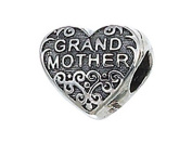 Zable (tm) Sterling Silver Grandmother Pandora Compatible Bead / Charm