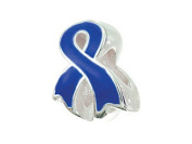 Zable (tm) Sterling Silver Awareness Ribbon Blue Bead / Charm