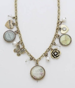 Vintage Style Charm Chain Necklace - Fluer Botanique