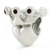 Ohm Heart Crown European Bead