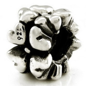 Ohm Heart Flower European Bead
