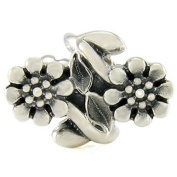 Ohm Twin Flower European Bead