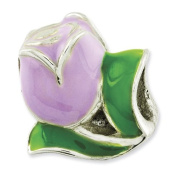 Sterling Silver Reflections Kids Enamelled Tulip Bead Charm - JewelryWeb