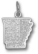 State of Arkansas 1.1cm Charm - Sterling Silver Jewellery