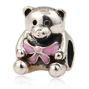 European Charm Bead Sterling Silver Bead It's A Girl