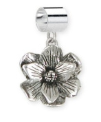 Magnolia Flower Charm Slide Jewellery
