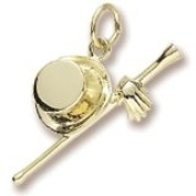Top Hat and Cane Gloves Charm