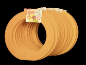 12 Pack, 23cm Biodegradable Floral Craft Ring, Ez Glueable Wreath Form, for Photo Frame, Candle Ring, Etc