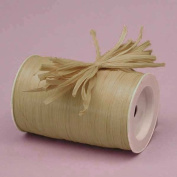 Oatmeal Matte Raffia Ribbon, 0.6cm X 100 Yards
