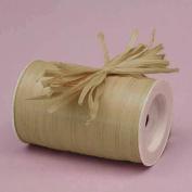 Oatmeal Matte Raffia Ribbon, 0.6cm X 100 Yards