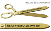 "Pre-Laser Engraved ""RIBBON CUTTING CEREMONY 5120cm 38cm Gold Plated Ceremonial Ribbon Cutting Scissors"