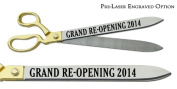 "Pre-Laser Engraved ""GRAND RE-OPENING 5120cm 50cm Gold Plated Handles Ceremonial Ribbon Cutting Scissors"