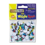 Creativity Street 344602 - Wiggle Eyes Assortment, Assorted Sizes, Black, 100/Pack-CKC344602