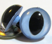 Suncatcher Craft Eyes - 3 Pair 7.5mm Cat Eyes in Country Blue